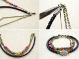 diy-boho-chic-bracelet-with-beads-and-chain-4