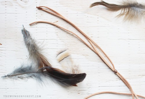 DIY Boho Chic Feather Headpiece