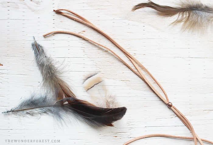 Picture Of diy boho chic feather headpiece  2
