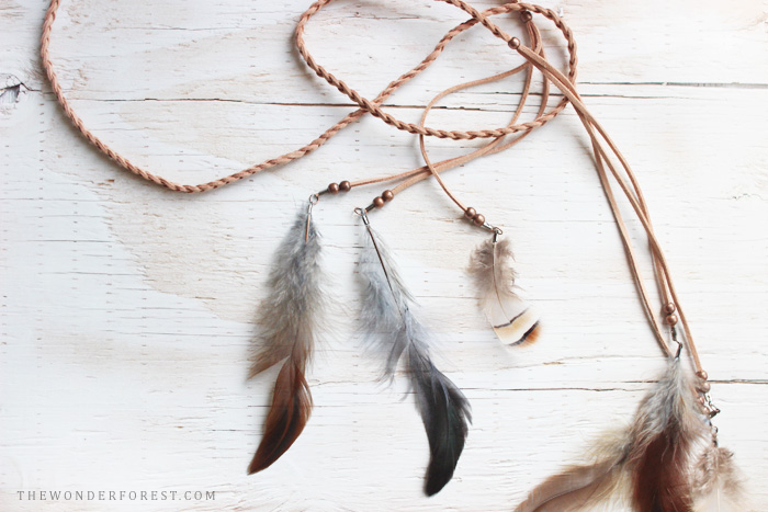 Picture Of diy boho chic feather headpiece  6