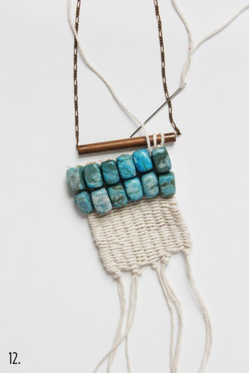 diy bohoinspired woven macrame necklace styleoholic