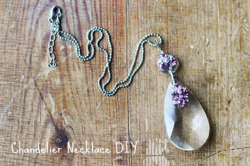 DIY Chandelier Necklace With A Vintage Touch