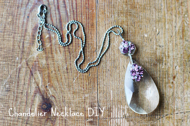 Picture Of diy chandelier necklace with a vintage touch  1