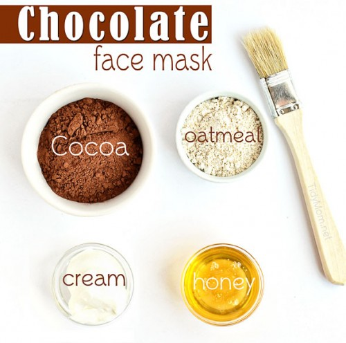 All Natural DIY Chocolate Face Mask from TidyMom for GourmandeintheKitchen.com