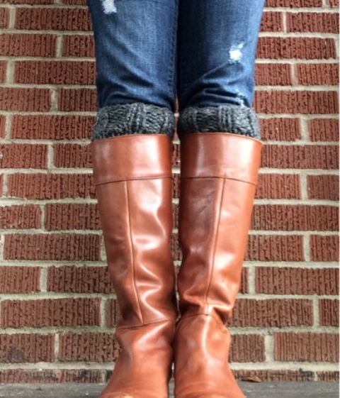 Picture Of diy chunky knit boot cuffs  2