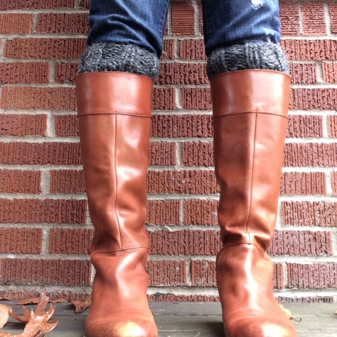 Picture Of diy chunky knit boot cuffs  3