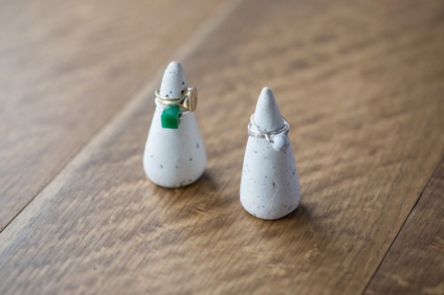 DIY Clay Ring Cones With Herbs