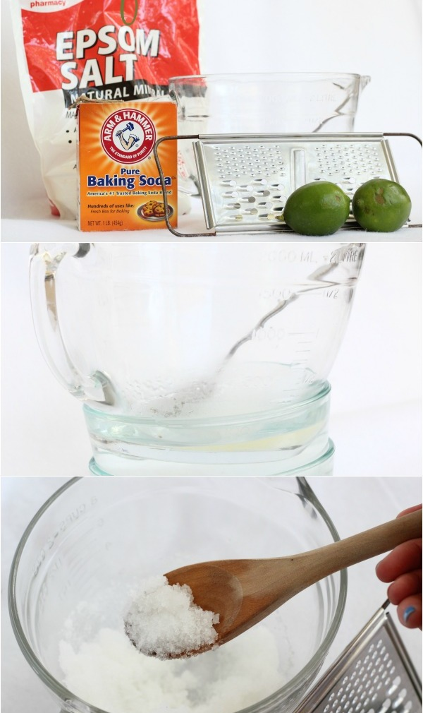 Picture Of diy coconut lime foot scrub  2