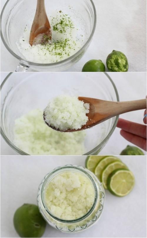 DIY Coconut Lime Foot Scrub