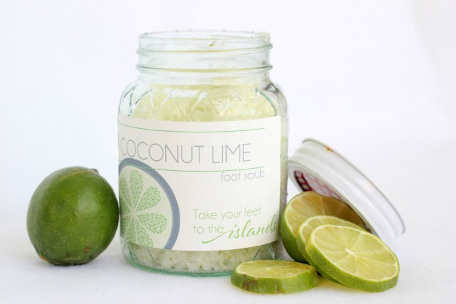 Picture Of diy coconut lime foot scrub  5