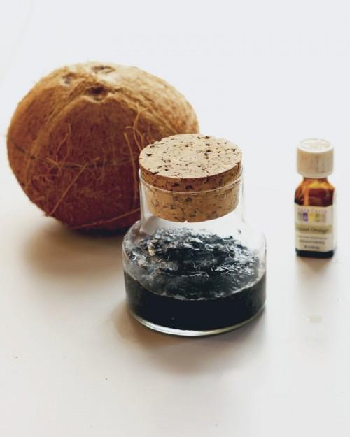 DIY Aromatic Coconut Orange Coffee Scrub