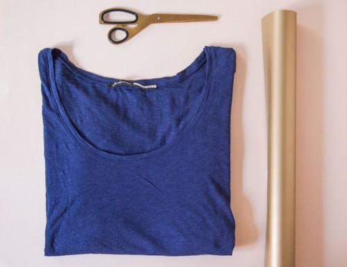 DIY Confetti Shirt Using Heat Transfer Vinyl