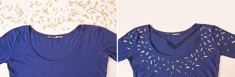 Picture Of diy confetti shirt using heat transfer vinyl  4
