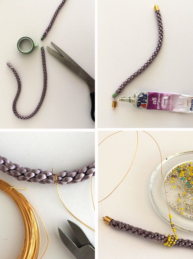 Picture Of diy cord bead bracelet  3