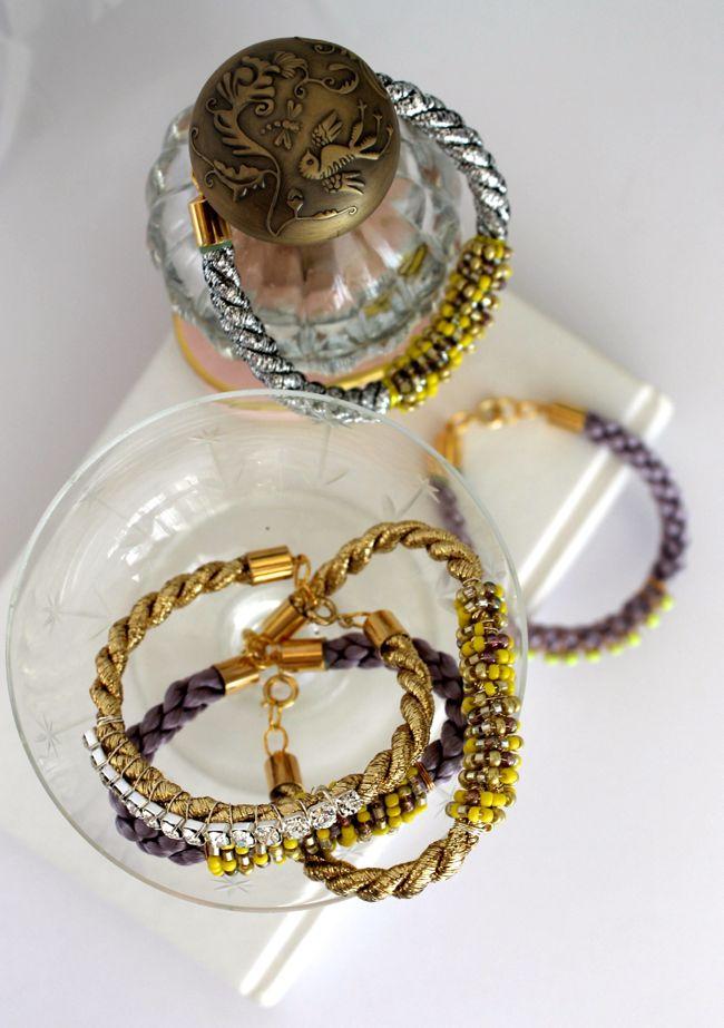 Picture Of diy cord bead bracelet  5