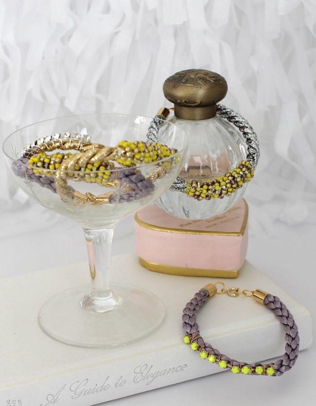 Picture Of diy cord bead bracelet  6