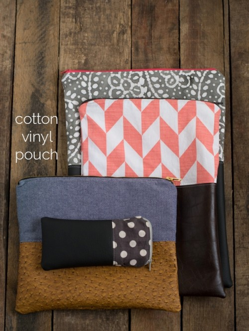 DIY Cotton And Vinyl Pouch For Your Stuff