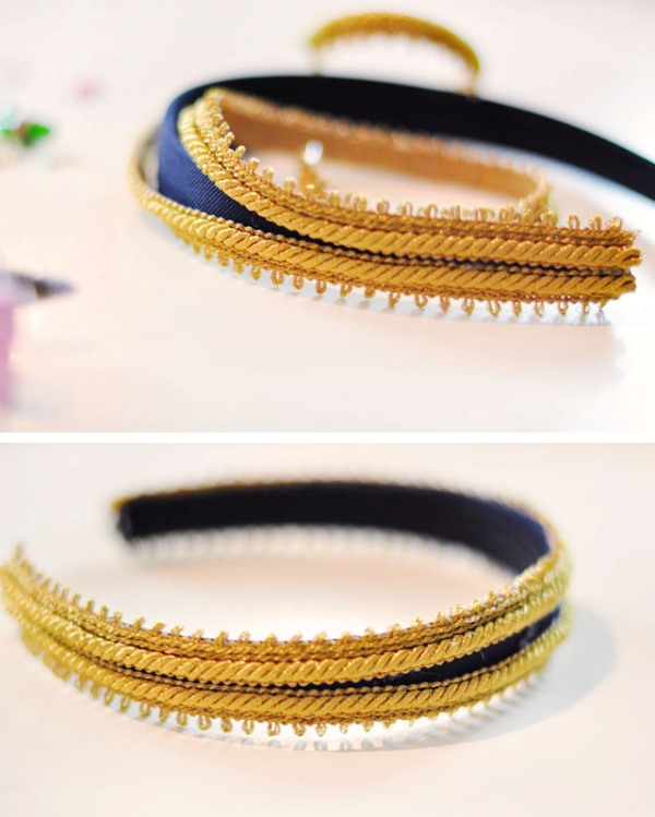 Picture Of diy dolce gabbana inspired bejeweled gold headband  4