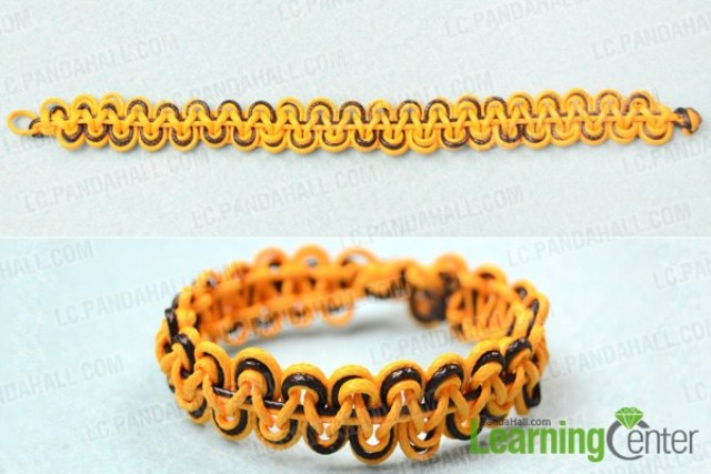 Picture Of diy double wave friendship bracelet with wax cord  5