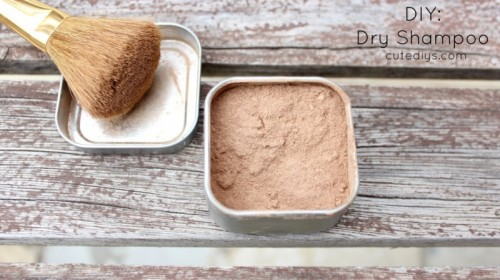 easy diy dry shampoo with cocoa (via styleoholic)