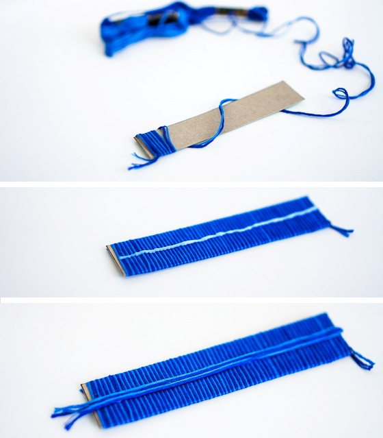 Picture Of diy electric blue feather strap heels  2