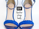 diy-electric-blue-feather-strap-heels-4