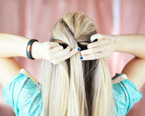 DIY Elsa French Braid Hairstyle From Frozen