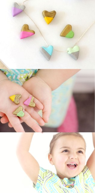 DIY Enameled Heart Bead Necklace