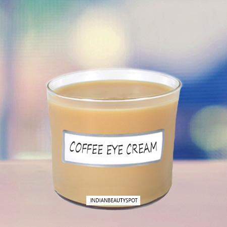 coffee eye cream for dark circles (via indianbeautyspot)