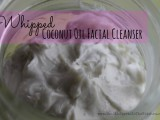 whipped coconut oil face cleanser