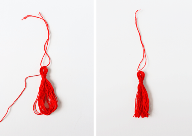 Picture Of diy fall scarf with colorful tassels  5