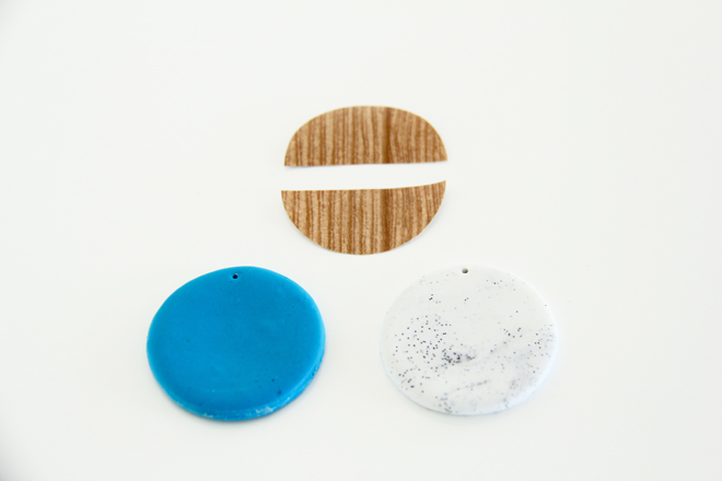 Picture Of diy faux stone and wood pendants  2