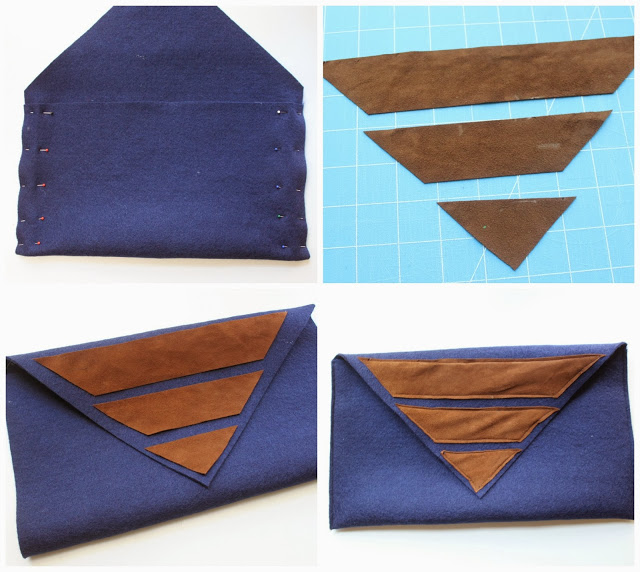 Picture Of diy felt and suede clutch  4