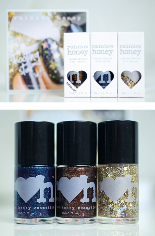 Picture Of diy galaxy inspired glittery nails design  2