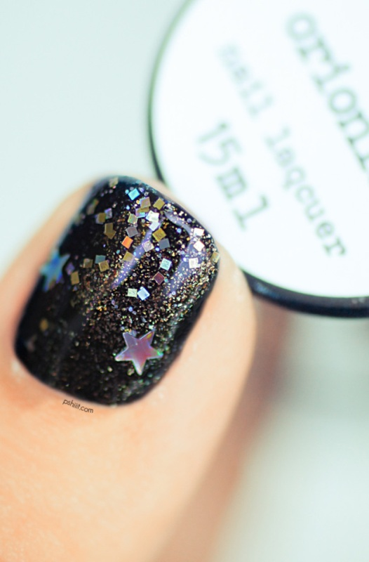 Picture Of diy galaxy inspired glittery nails design  7