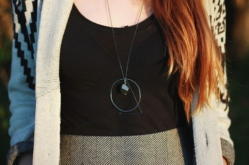 DIY Geometric Necklace With Various Geometric Figures