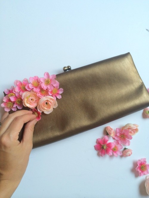 DIY Girlish Flower Summer Purse