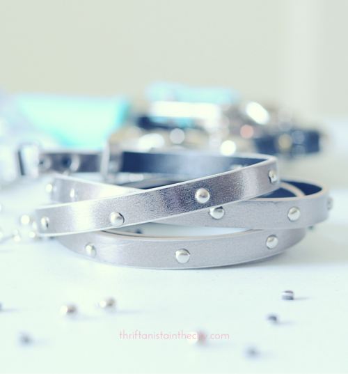 DIY Givenchy Inspired Studded Wrap Bracelet