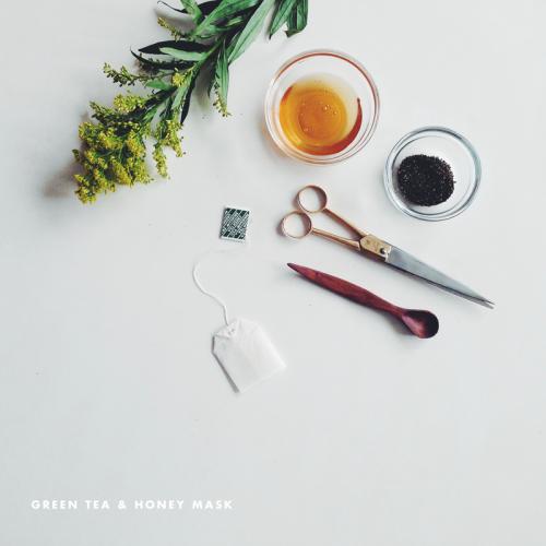 green tea and honey face mask (via witanddelight)