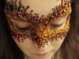 DIY Fire Masquerade Mask