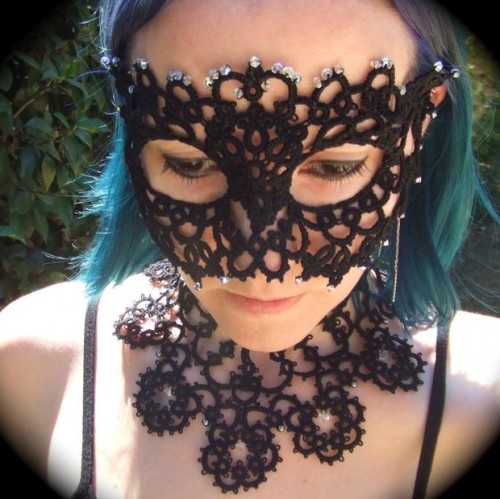 DIY Tatted Mask (via instructables)