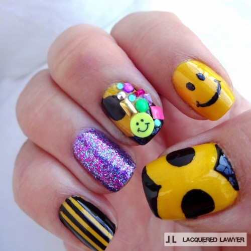 DIY Happy Smiles Nail Art