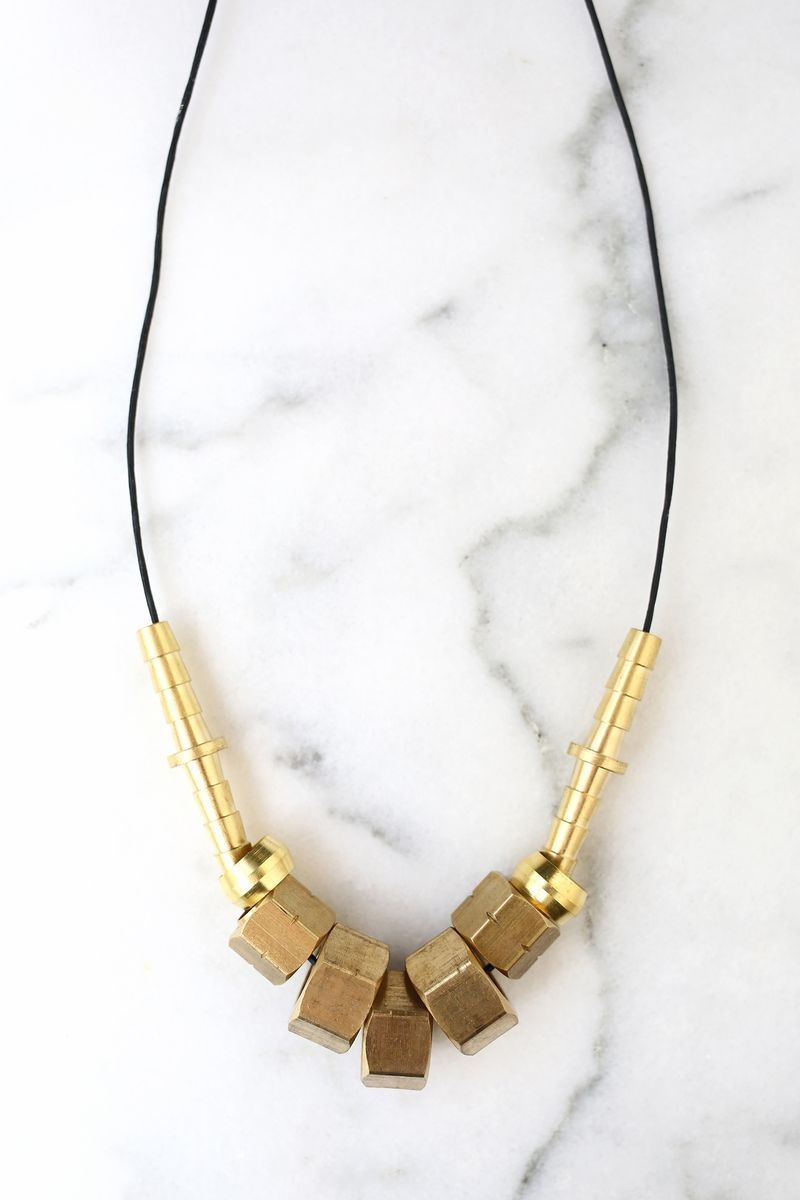 Picture Of diy hardware store supplies statement necklace  2