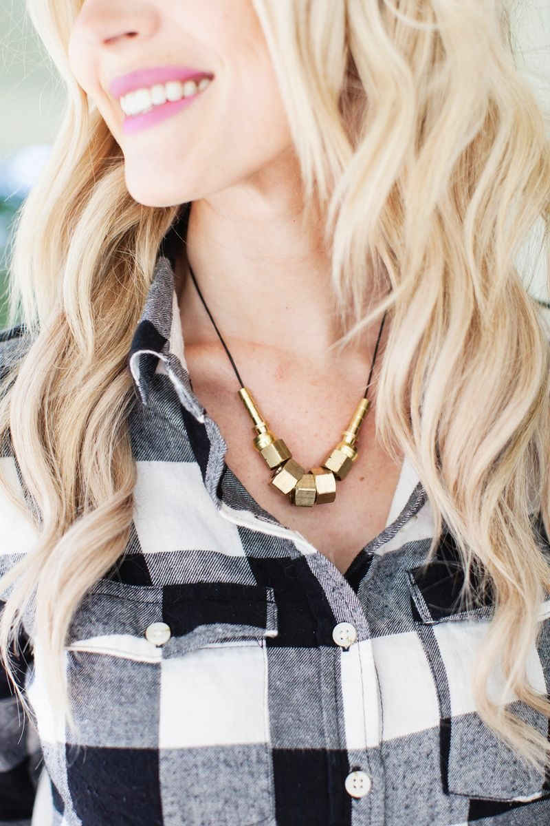Picture Of diy hardware store supplies statement necklace  3