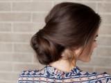 sock bun hairstyle