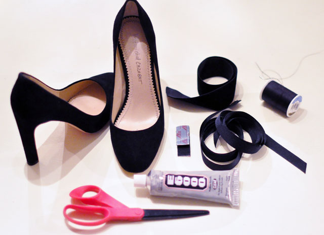 Picture Of diy holiday shoes with t straps and ankle bows  2
