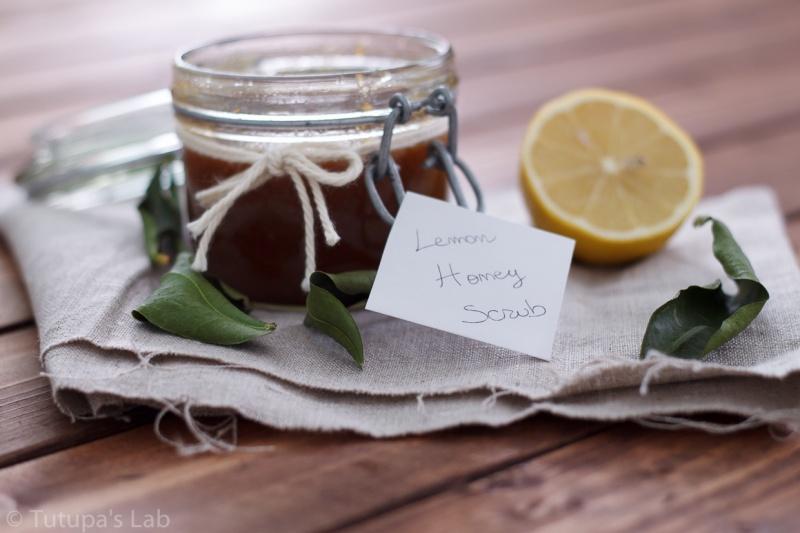 lemon honey face scrub
