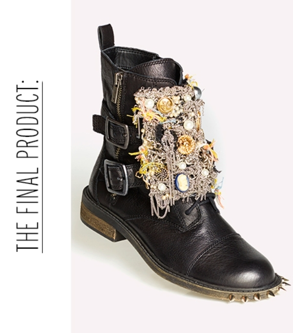 Picture Of diy incredible embellished boots inspired by original saint laurents boots  10
