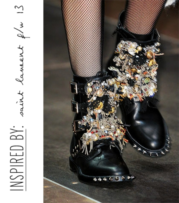 Picture Of diy incredible embellished boots inspired by original saint laurents boots  2