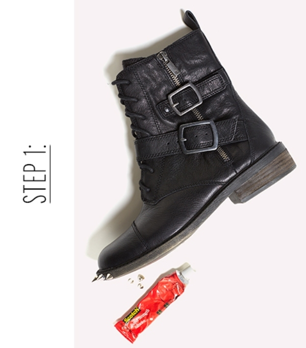 Picture Of diy incredible embellished boots inspired by original saint laurents boots  5